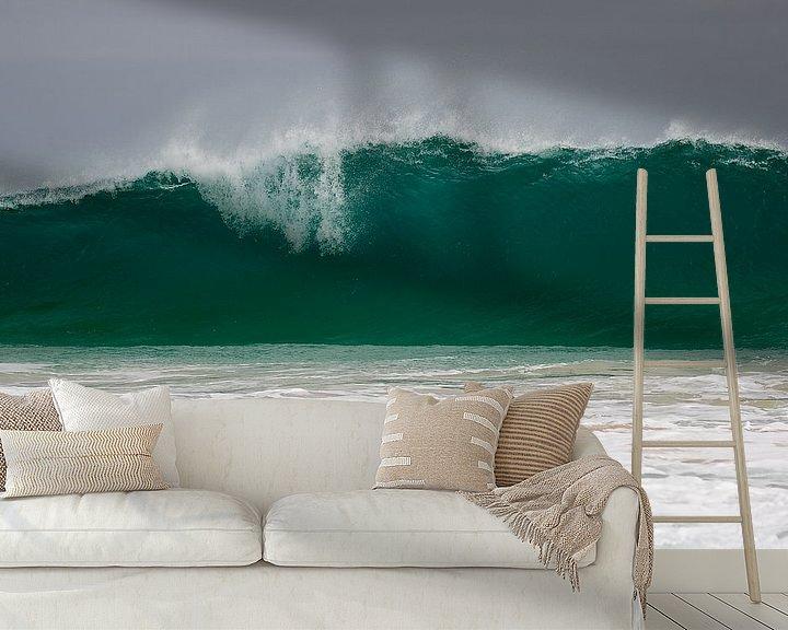 Sfeerimpressie behang: Tsunami van Peter van Dam