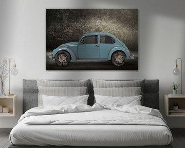 Retro Small Car blue kever van H.m. Soetens