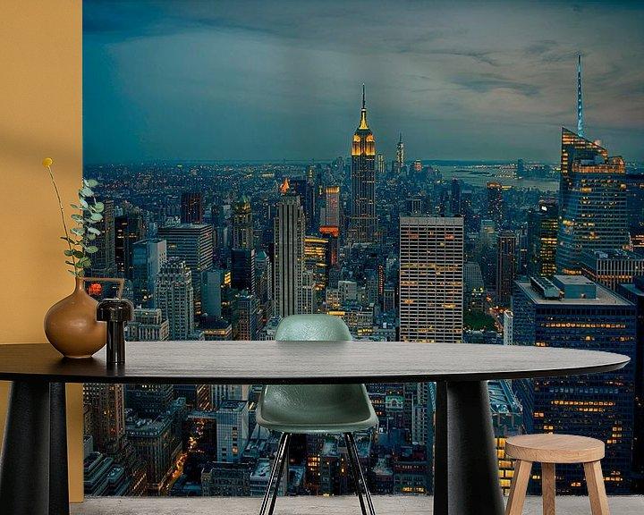 Sfeerimpressie behang: New York City van Gustavo Gonzalez