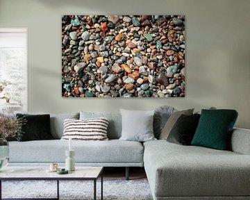 Mehrfarbige Steine der Ostsee von Yana Spiridonova