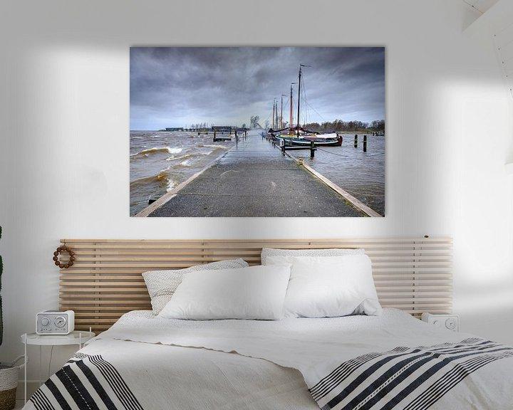 Beispiel: Sturm auf die Saufrau am Lauwersmeer in Lauwersoog von Evert Jan Luchies