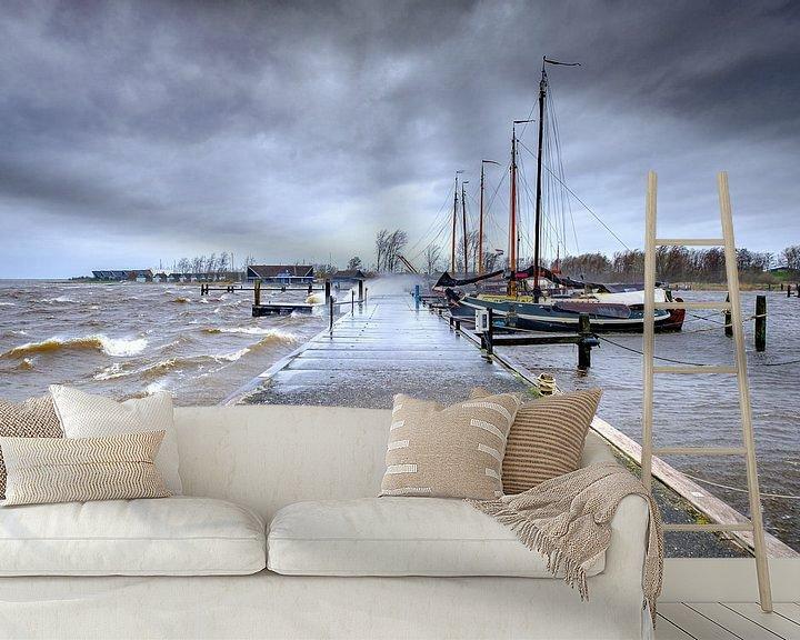 Beispiel fototapete: Sturm auf die Saufrau am Lauwersmeer in Lauwersoog von Evert Jan Luchies