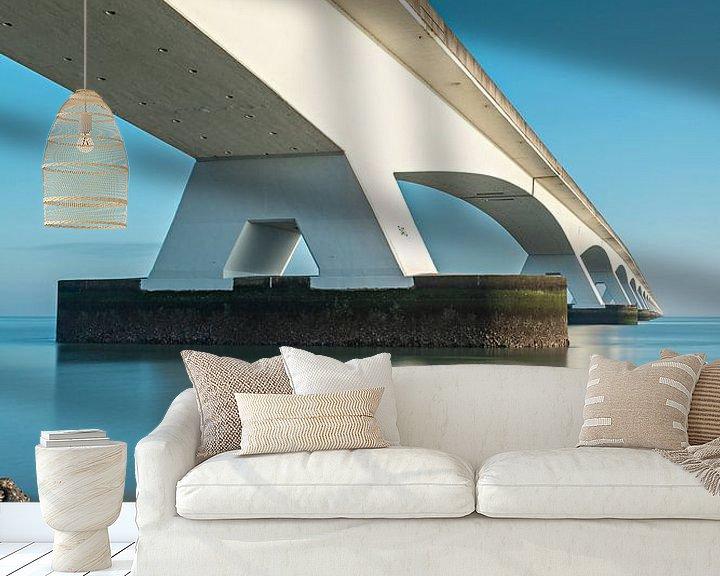 Sfeerimpressie behang: lange sluitertijden aan de zeelandbrug (2) van Midi010 Fotografie