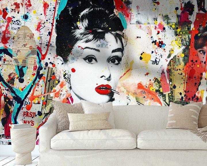 """Beispiel fototapete: Audrey Hepburn """"Menschen"""" von Kathleen Artist Fine Art"""