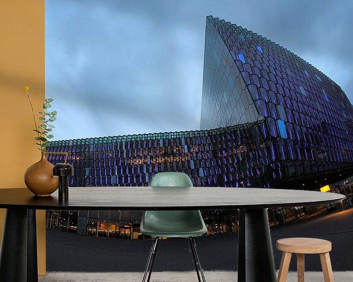 Beispiel fototapete: Konzerthaus Harpa Reykjavík von Patrick Lohmüller