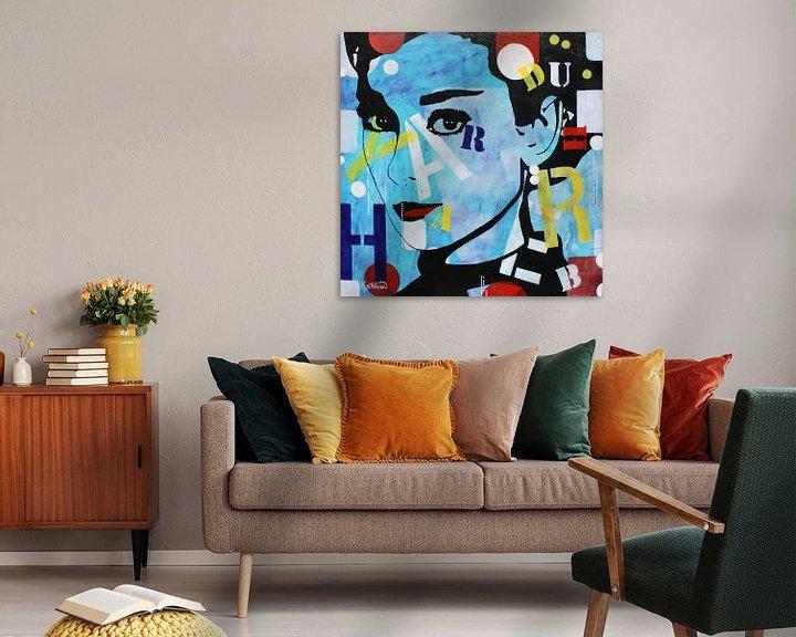 """Beispiel: Audrey Hepburn """"Romantik"""" von Kathleen Artist Fine Art"""