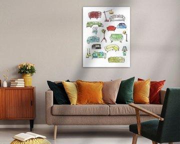 Sweet Home - Innenausstattung und Möbel -2 von Ariadna de Raadt
