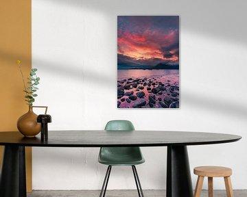 Zonsondergang Elgol Beach, Isle of Skye, Schotland