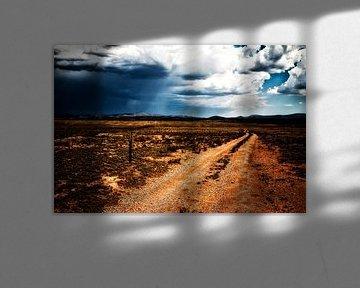 une route brute à travers le paysage de l'Arizona sur Studio de Waay