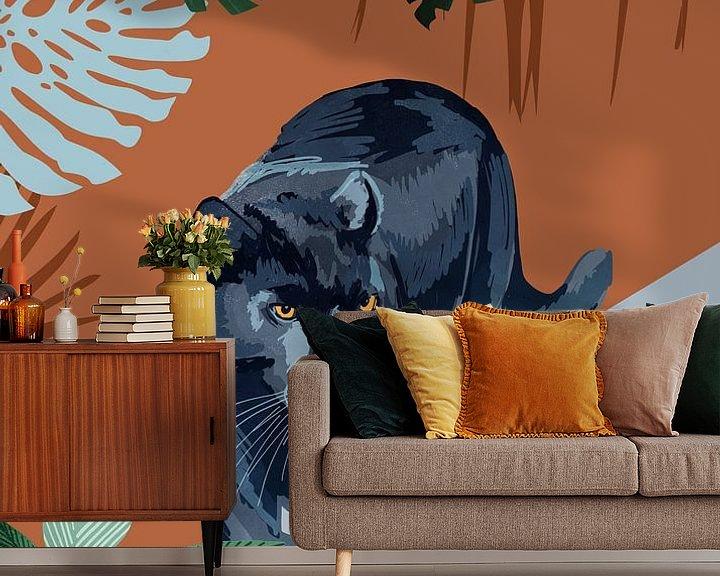 Sfeerimpressie behang: Zwarte Panter van Goed Blauw