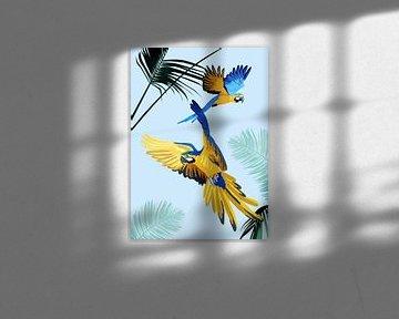 Papageien am Himmel von Goed Blauw