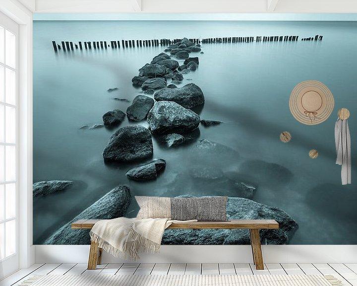 """Sfeerimpressie behang: """"Zen"""" van Karel Ton"""