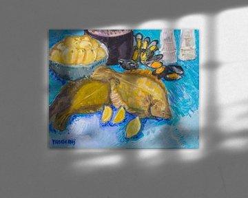 Scholle 2 (blau) von Tanja Koelemij