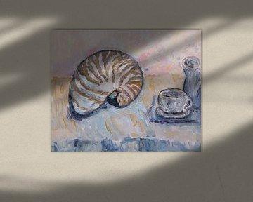 Stilleben mit Muschel (Nautilus) von Tanja Koelemij