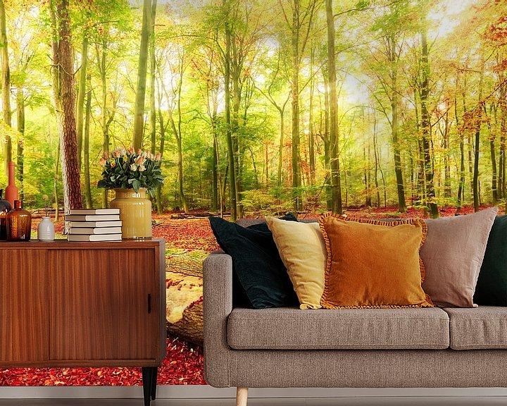 Sfeerimpressie behang: Herfst - Beautiful Death van Cho Tang