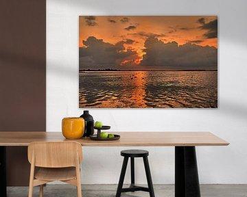 Sonnenuntergang Eemmeer bei Spakenburg