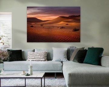 Zonsopkomst in de woestijn van Peter Poppe