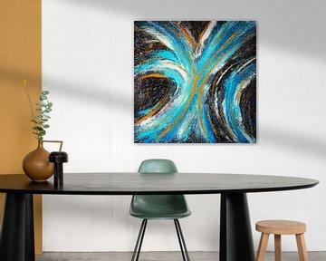 Modernes, abstraktes digitales Kunstwerk - Stars werden sich für uns verschwören (Teil 1) von Art By Dominic