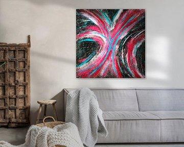 Modernes, abstraktes digitales Kunstwerk - Stars werden sich für uns verschwören (Teil 2) von Art By Dominic