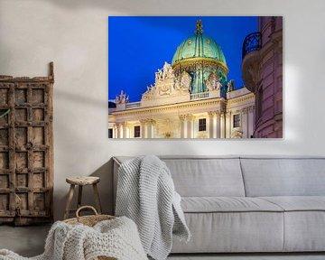Alte Hofburg in Wien am Abend von Werner Dieterich