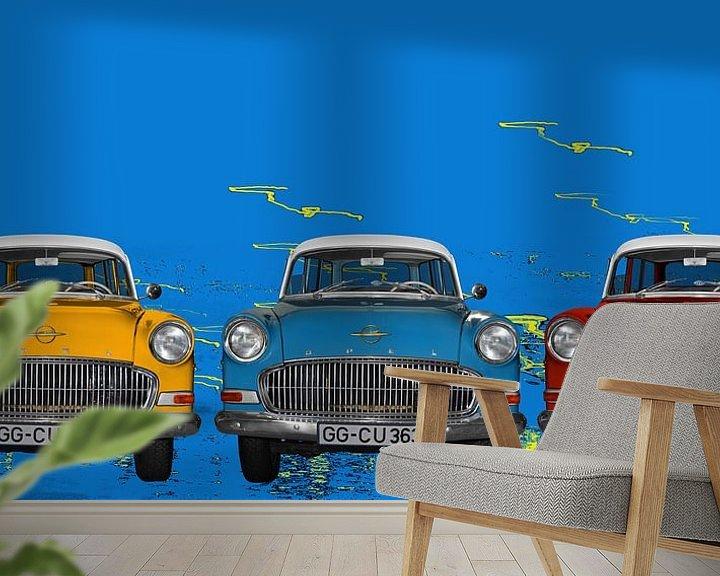 Beispiel fototapete: Opel Olympia Rekord in Pop-Art von aRi F. Huber