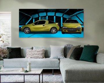 L'Opel Tigra en couleurs originales sur aRi F. Huber