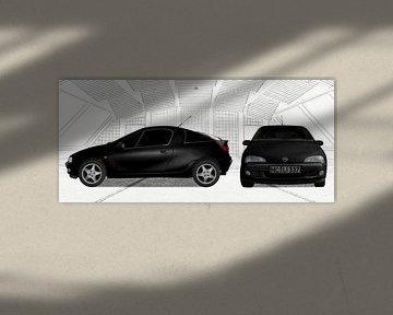 Opel Tigra in black & white von aRi F. Huber