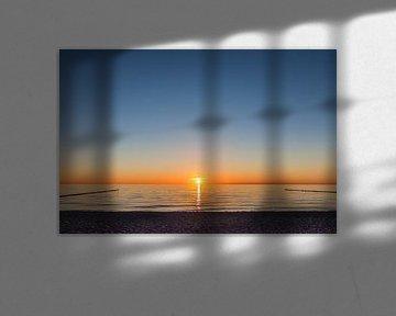 Sonnenuntergang am Darßer Weststrand von Christian Müringer