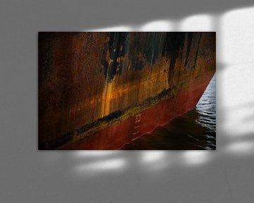 In de haven van IJmuiden van scheepskijkerhavenfotografie