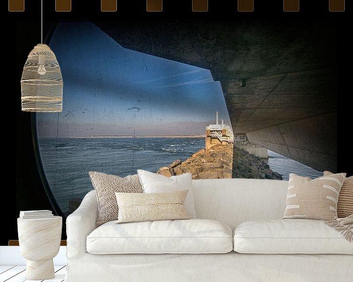 Sfeerimpressie behang: Stormvloedkering van Erik Reijnders