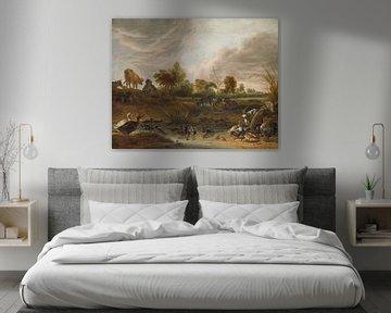 Landschaft mit Tieren, Cornelis Saftleven