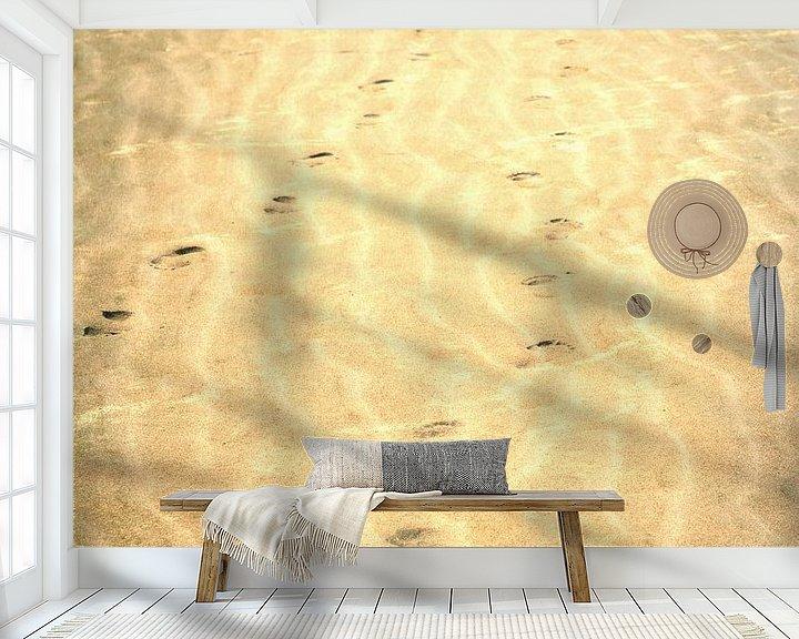 Sfeerimpressie behang: Voetstappen van Bernardine de Laat