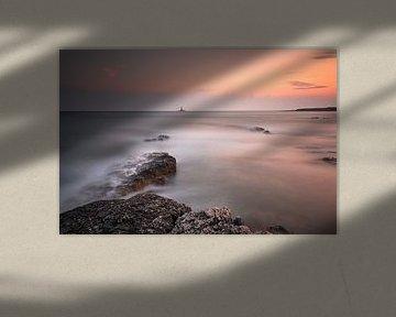 Zonsondergang Premantura Kroatië/sunset van Silvia Thiel