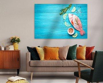 SF12685190 Stilleven van verse tilapia vis met ingredienten van BeeldigBeeld Food & Lifestyle