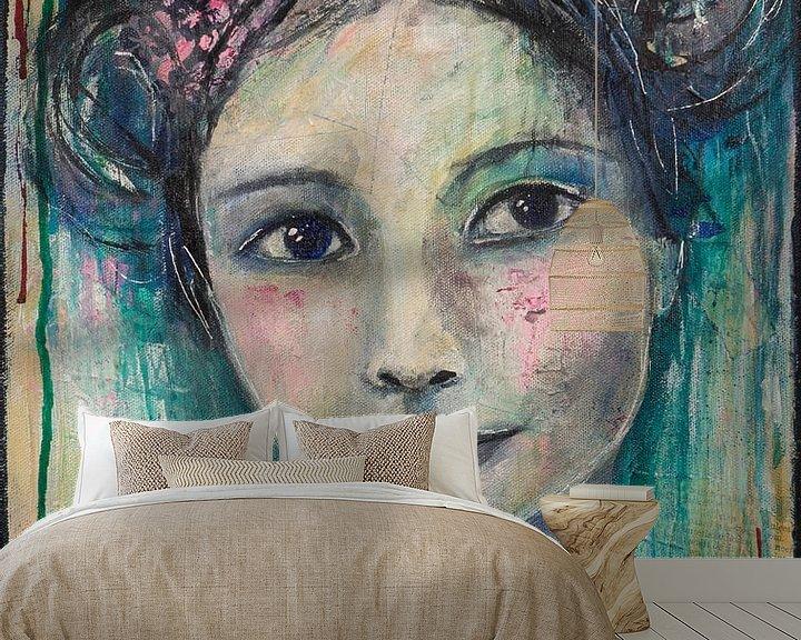 Sfeerimpressie behang: Lovely Lady 1 van Flow Painting