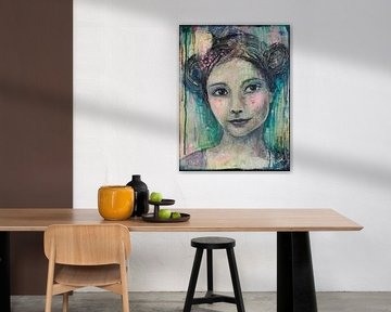 Lovely Lady 1 van Flow Painting