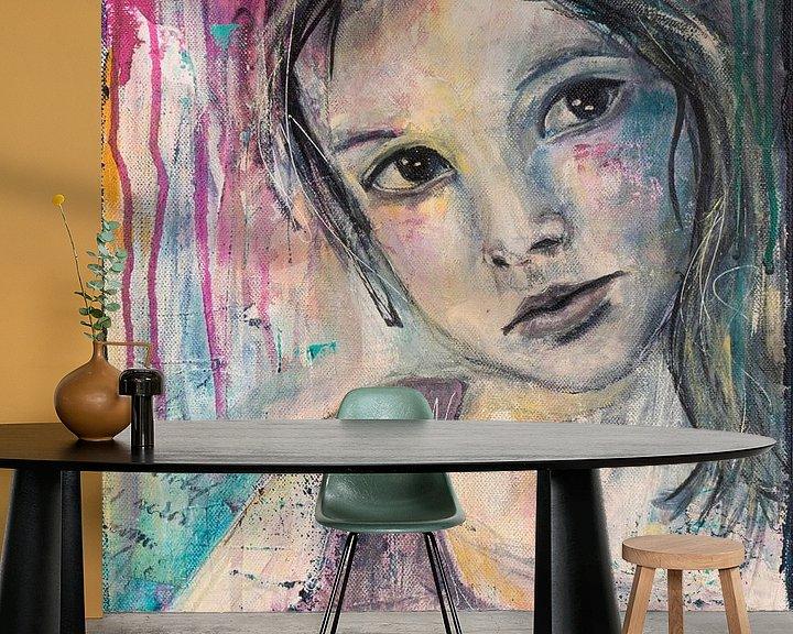 Sfeerimpressie behang: Lovely Lady 2 van Flow Painting