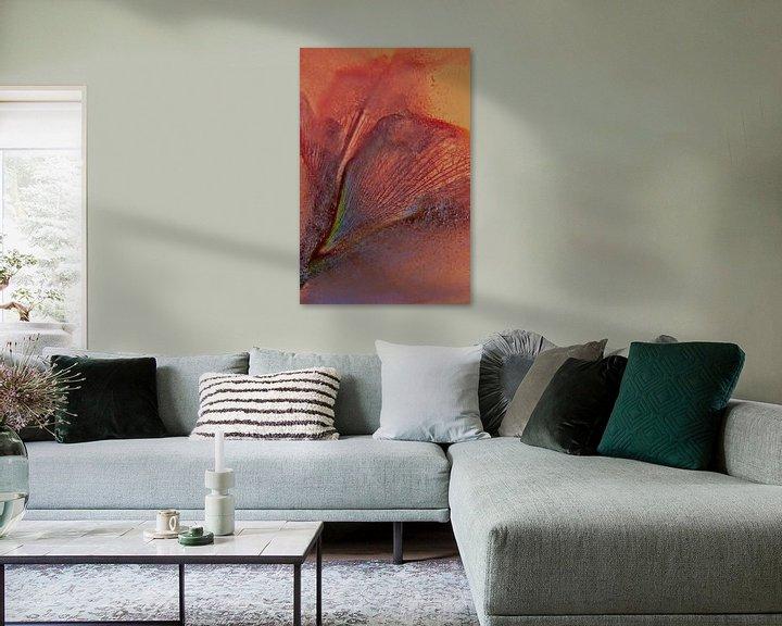 Sfeerimpressie: Geabstraheerde Amaryllis van Leo Luijten