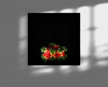 Aardbeien stilleven van Theo Urbach