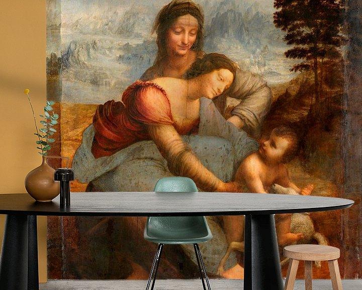 Beispiel fototapete: Jungfrau und Kind mit der heiligen Anna, Leonardo da Vinci