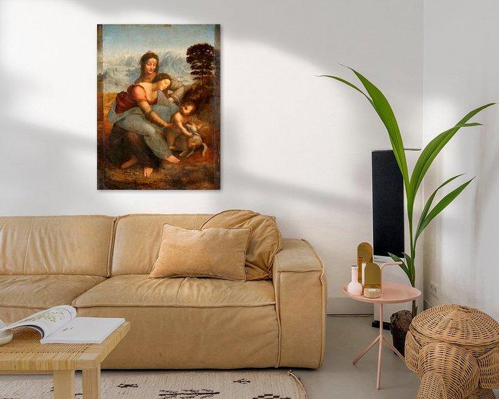 Beispiel: Jungfrau und Kind mit der heiligen Anna, Leonardo da Vinci