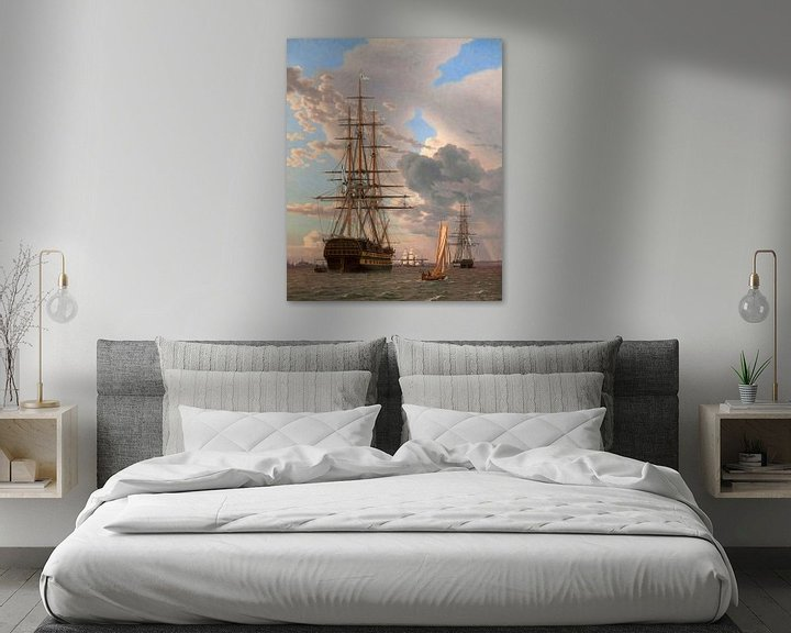 Beispiel: Das russische Schiff der Linie 'Asow', Christoffer Wilhelm Eckersberg