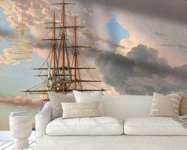 Beispiel fototapete: Das russische Schiff der Linie 'Asow', Christoffer Wilhelm Eckersberg