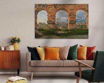 Une vue à travers trois arches du troisième étage du Colisée, Christoffer Wilhelm Eckersberg