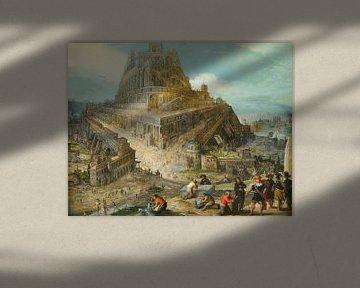 König Nimrod, der den Bau des Turms zu Babel anordnete, Louis de Caullery