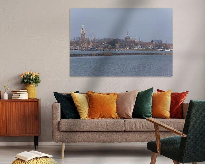Sfeerimpressie: Enkhuizen Skyline van Brian Morgan