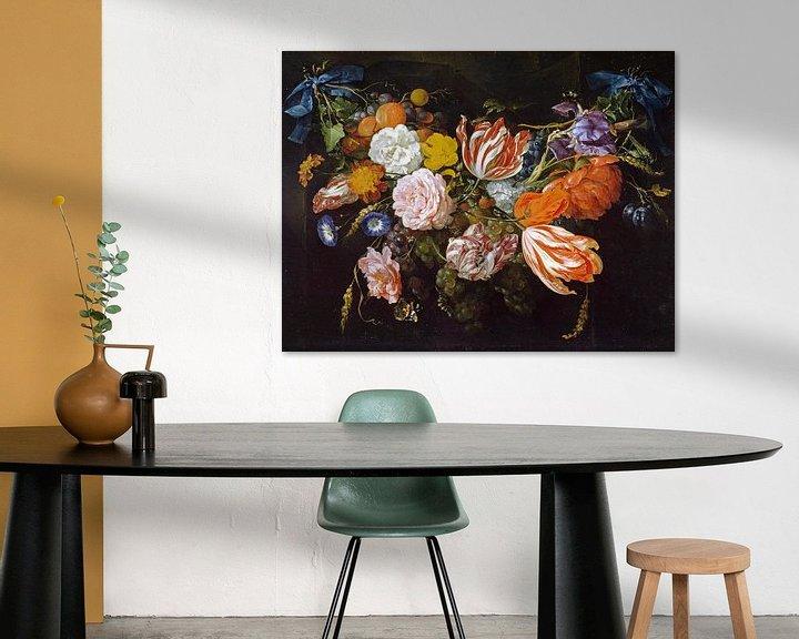 Beispiel: Gärtnerei von Blumen und Früchten, Jan Davidsz. de Heem