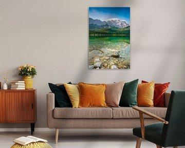 Eibsee met Zugspitze van Martin Wasilewski