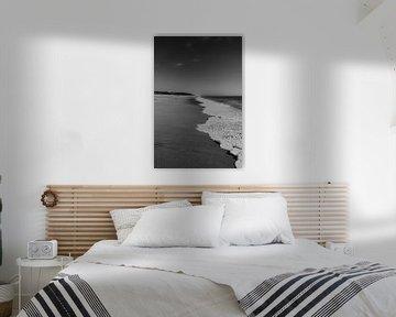 Golven op het strand in Faro, Portugal van Manon Visser