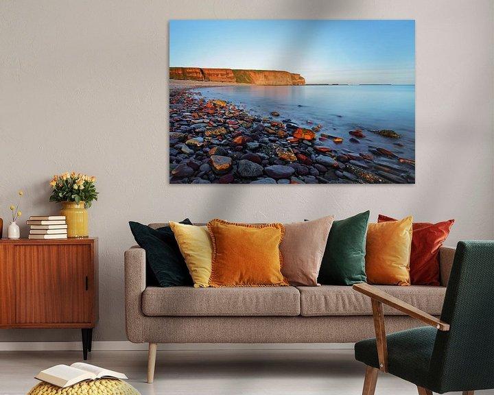 Beispiel: Strand auf Helgoland im Morgenlicht, Wasserbewegung von Ralf Lehmann